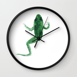 Study of a frog #02 Wall Clock