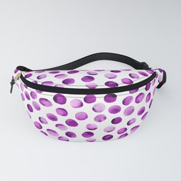 Watercolor Dots // Orchid Violet Fanny Pack