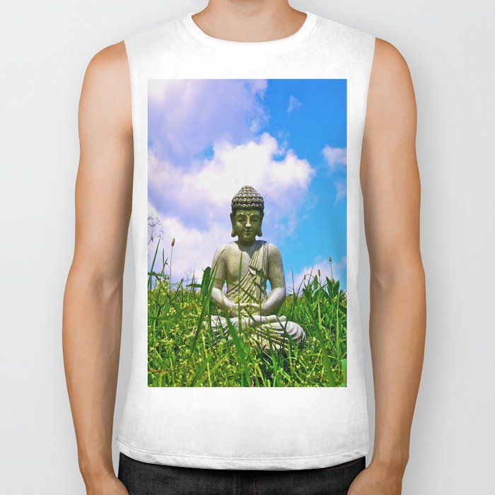 Buddha Takes the Field Biker Tank