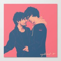 cyrilliart Canvas Prints featuring Larry #7 by Cyrilliart