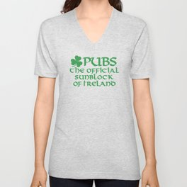 Pubs, the official sunblock of Ireland Unisex V-Neck