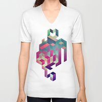 spires V-neck T-shirts featuring isyhyrtt dyymyndd spyyre by Spires
