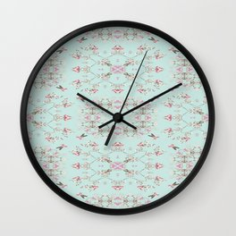 Duck Egg Chintz Wall Clock