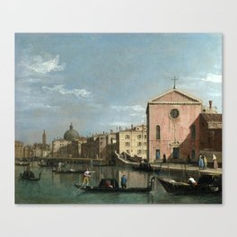 Venice, The Grand Canal facing Santa Croce by Follower of Canaletto Canvas Print