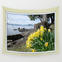DAFFODILS OF SPRING IN THE SAN JUAN ISLANDS Wall Tapestry