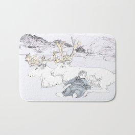 Two Reindeers Bath Mat