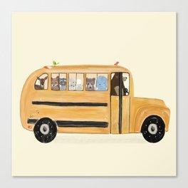 little yellow bus Canvas Print