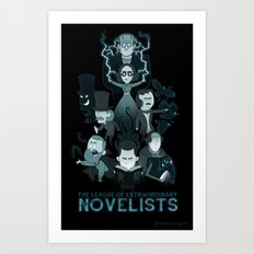 Extraordinary Novelists Art Print