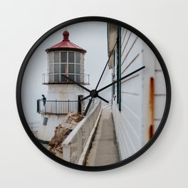 Point Reyes Lighthouse up close Wall Clock