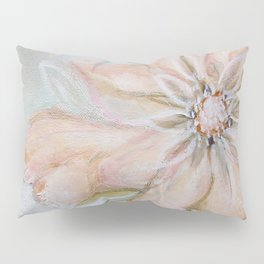 Pink Flower Art Pillow Sham
