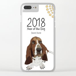 Year of the Dog - Bassett Hound Clear iPhone Case