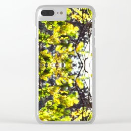 Leaves Blowing in the Wind Clear iPhone Case