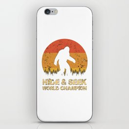 Vintage Hide And Seek World Champion Bigfoot Sasquatch iPhone Skin