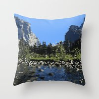 8 bit Throw Pillows featuring 8-bit by Stakers