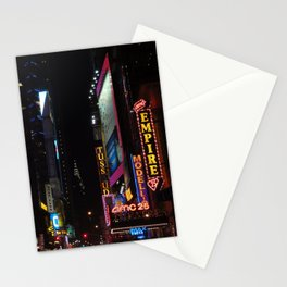 42nd Street by night, NYC Stationery Cards