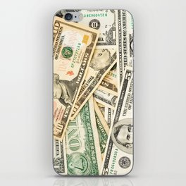 dollar bills iPhone Skin