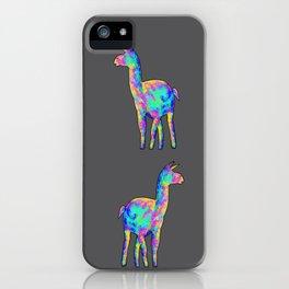 Neon Llama iPhone Case