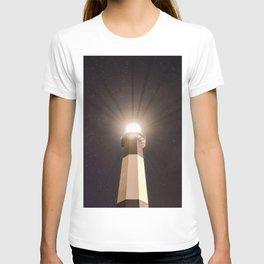 Tybee Lighthouse Under the Stars T-shirt