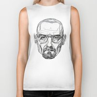 heisenberg Biker Tanks featuring Heisenberg by Christina Patti