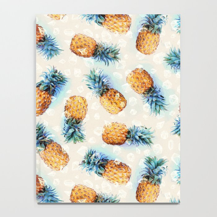 Pineapples + Crystals  Notebook