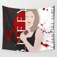 buffy Wall Tapestries featuring Buffy, the vampire slayer by Rose's Creation