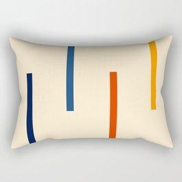 Abstract Minimal Retro Stripes Bikram Rectangular Pillow