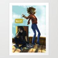 nico di angelo Art Prints featuring Nico! by sharada