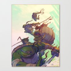 Fearsome Fighting Teens Canvas Print