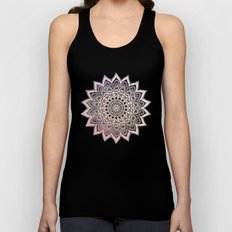 GOLD NIGHTS MANDALA IN PURPLE Unisex Tank Top