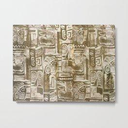 tribal pattern in earth tones Metal Print