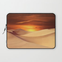 The Sunset On Desert Laptop Sleeve
