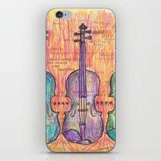 Violin, music to my ears iPhone & iPod Skin