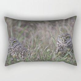 Burrowing Owl pair Rectangular Pillow