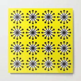 Geometric Pattern 141 (Yellow dandelion) Metal Print