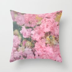 Roses & Bees Throw Pillow