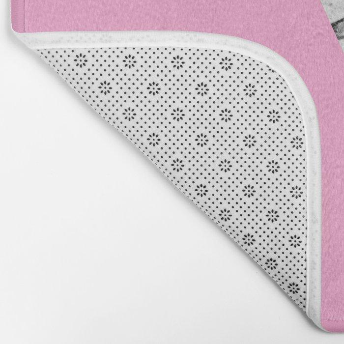 Girly Modern Pink Gold and Marble Triangular Cut Bath Mat