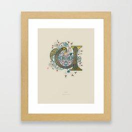 Celtic Initial U Framed Art Print