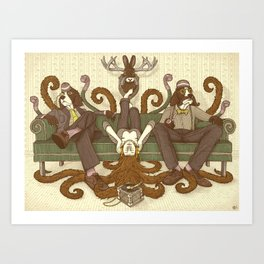 People Sitting Art Print