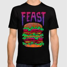 FEAST Black Mens Fitted Tee LARGE
