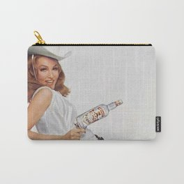 Vodka Martini - Julie Newmar Cowgirl - When I say Bloody Mary...Alcoholic Beverages Vintage Poster Carry-All Pouch
