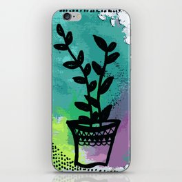 Ei plant abstract 1 iPhone Skin