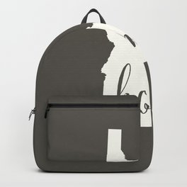 Idaho is Home - White on Charcoal Backpack