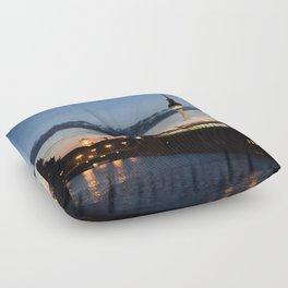 Berlin at night Floor Pillow