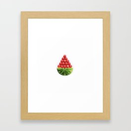 watermelon candy bowl Framed Art Print