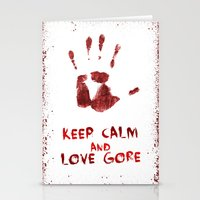 gore Stationery Cards featuring Love Gore by Victor Rodriguez