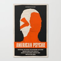 american psycho Canvas Prints featuring American Psycho by Bill Pyle
