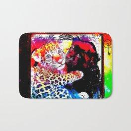 Big Cat Companions: Leopard & Black Panther Cubs 01-03 Bath Mat