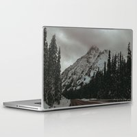 snowboard Laptop & iPad Skins featuring Mountain Road by Leah Flores