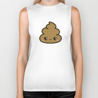 poop Biker Tanks featuring Cutey poop by Holly