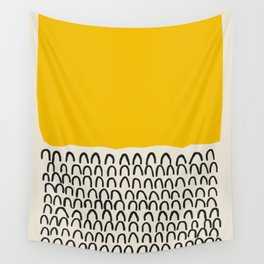 Sun Abstract Print, Shapes Mid Century Wall Art, Retro Minimal Art Minimalist Print Scandinavian Pos Wall Tapestry